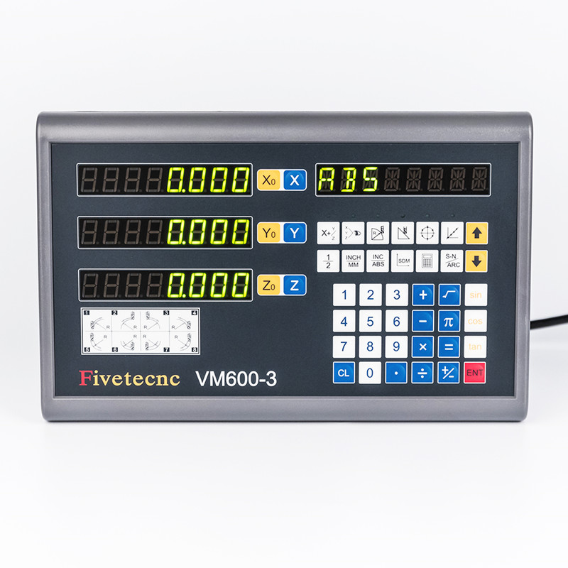 VM600-3 Readouts DRO Display